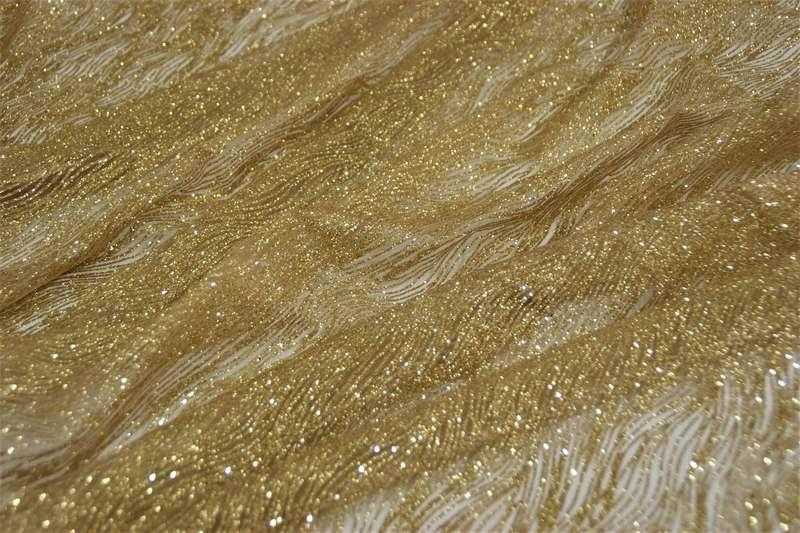 Кружево напыление 3285 золотое, м