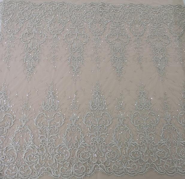 Кружево 11614A-12L silver, м